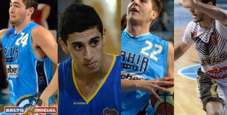 Foto: Fernández, Ramos y Ávalos Prensa Bahía Basket. Funes: Facebook Boca Básquet.